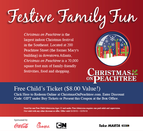 Christmas on Peachtree child admission discount