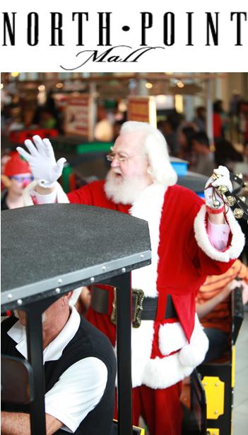Santa at North Point Mall in Alpharetta