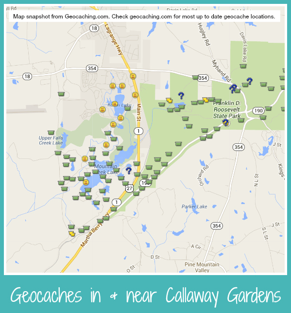 Geocaches At Callaway Gardens