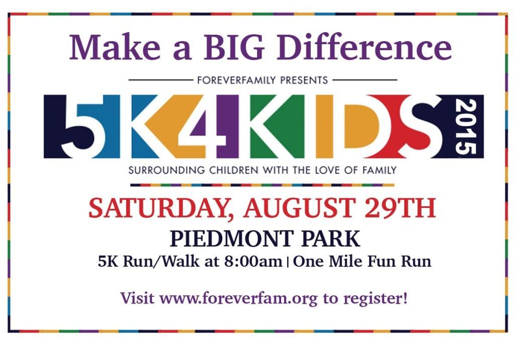 August 29, 2015: 5K4Kids Run and Walk at Piedmont Park